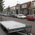 In Deventer, de trailer waar de AX op de achtergrond niet veel later op komt te staan.